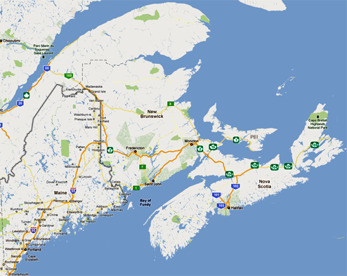 Map Of Maine And Eastern Canada Vaad Hakashrus of Eastern Canada and Maine